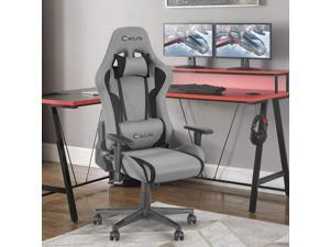 Eclife High Back Computer Game Chair with Adjustable Massage Lumbar Support and Headrest Racing Style Swivel Executive Office Desk Gaming Chair
