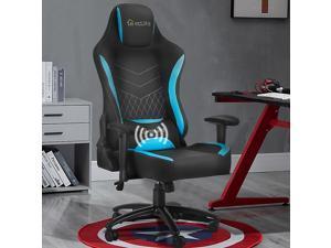 Eclife Gaming Chair Racing Video Computer Desk Chair - Ergonomic Recliner Massage Lumbar Support Padded Armrest Tilt Rock and Headrest Home Office