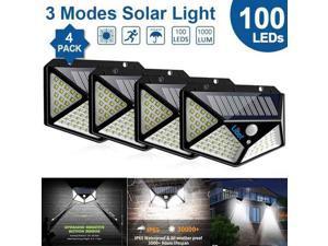 Solar Lights Outdoor 4PC 100LED PIR Motion Sensor Wall Light IP65 Waterproof Outdoor Solar Light