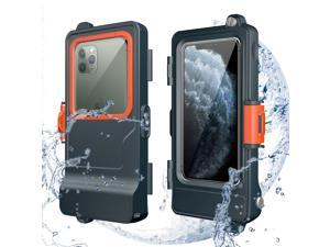 Mishcdea Professional Waterproof Phone Case for All iPhone Series, Diving Snorkeling Surfing Swimming Underwater Photo Video Waterproof Case, Built-in Screen Protector Fully Sealed Protective Case