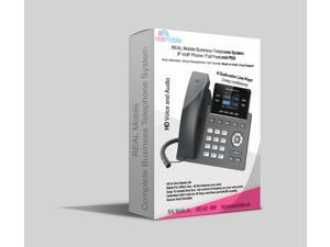 REAL Mobile Business Telephone System, PBX and VoIP Phone ideal for Home or Office solution, Includes Auto Attendant, Virtual Receptionist, Call Transfer, Music on Hold, Cloud Support nd much more