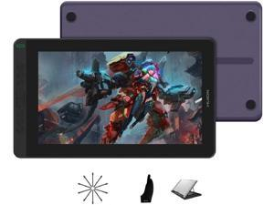 2020 HUION KAMVAS 13 Android Support Graphics Drawing Tablet Monitor with Full Laminated Screen Battery-Free Stylus 8192 Pressure Sensitivity Tilt 8 Express Keys Adjustable Stand -13.3inch, Purple