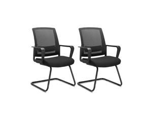 CLATINA Office Guest Chair with Lumbar Support and Mid Back Mesh Space Air Grid Series for Reception Conference Room BIFMA Certified