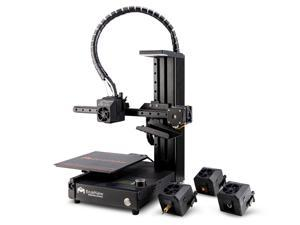 EcubMaker TOYDIY 4-in-1 3D Printer (Dual-Color 3D Printing/Laser Engraving/CNC Carving), Auto Leveling, Upgraded Version(180 x 180 x 180mm)