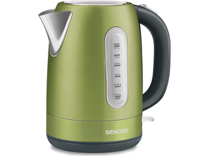 Sencor Stainless Electric Kettle 1.7L - Light Green (SWK1770GG) Comes With 1 Year Warranty