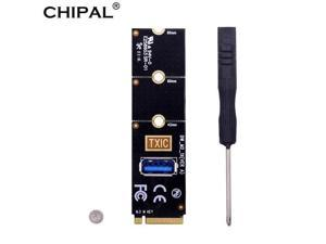 CHIPAL NGFF M.2 to USB 3.0 Transfer Card M2 M Key to USB3.0 Adapter Extender For PCI-E 1x to 16x PCI-E Riser Video Card Miner