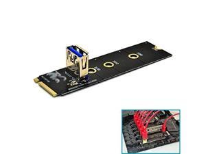 (2 Pack) NGFF M.2 To USB 3.0 PCI-E Riser Card M2 Slot Extender Adapter For BTC/ETH Mining,NGFF M.2 to PCI-E X16 Slot Transfer Card Mining Pcie Riser Card VGA Extension Cable