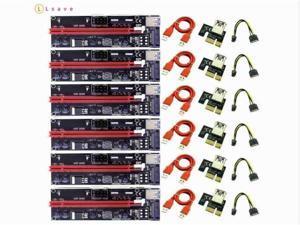 6pcs/lot VER009S PCI E PCI E 1x to 16x Mining Machine Enhanced Extender PCIE Riser Card Adapter 60cm Power Cable for Bitcoin BTC