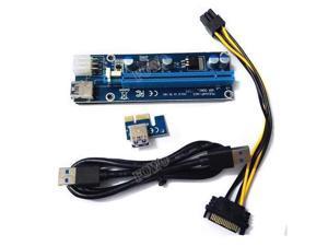 6pcs/lot for Bitcoin mining machine Riser version 006C PCI-E PCI E Express 1X to 16X Riser Card for BTC miner