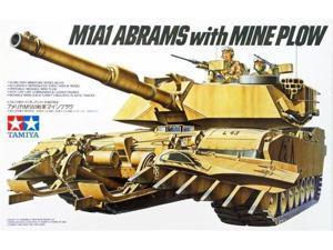 U.s. M1a1 Abrams Tank With Mine Plow Model Kit