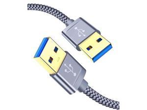 USB 30 A to A Male Cable  USB to USB Cable 2 Pack33ft+66ft USB Male to Male Cable Double End USB Cord with GoldPlated Connector for Hard Drive Enclosures DVD Player Laptop Cooler Grey
