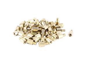Unique Bargains 50 Pcs PCB Motherboard Standoff Hex Spacer Screw Nut M3 Male 4mm to Female 6mm