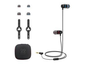 In-Ear Wired Silicone Earbuds With Earcap Holder Earbuds Case For Oculus Quest 2 VR Accessories (Black)