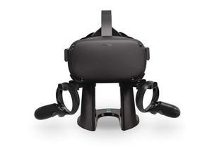 VR Stand,Headset Display Holder and Controller Mount Station for Oculus Quest, Quest 2, Rift or Rift S Headset and Touch Controllers