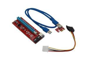 PCIE Riser Card USB 3.0 PCI Express Card 1x to 16x  Data Cable SATA to 4Pin IDE Power Supply for BTC Miner Machine Mining