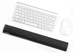 BUBM Keyboard Wrist Rest Support Pad, Memory Foam Upgraded Hand Support with Non Slipping Rubber Base, Ergonomic Arm Stand for Office, Gaming, Home, Computer, Mac (Black Keyboard Wrist Rest)