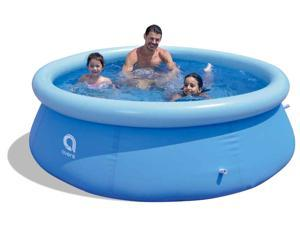 FSPATIO big home indoor outdoor round inflatable adults kids swimming pool