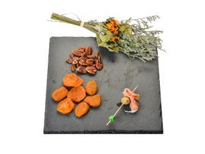 YCD Ziran Black Slate Cheese Boards Solid Stone Tray Charcuterie Boards, Cheese and Meat Serving Board for Home, Restaurant,Cafe Use ( (9.8 x 9.8 x 0.4 In)