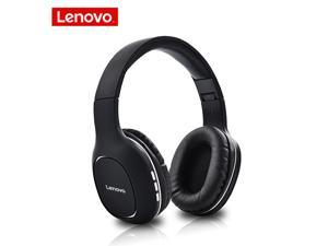 Lenovo Bluetooth 5.0 Headset HIFI Sound Quality Wireless Headphone Long Standby Built-in 300mA Battery Earphone Bluetooth Headphone with Mic for computer Cell Phone Tablet