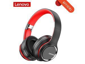 Lenovo Headphone Wireless Bluetooth 5.0 Headset Intelligent Noise Reduction HIFI Sound Effect 40MM Big Horn Super Bass with Mic High- speed Transmission Metallic Texture