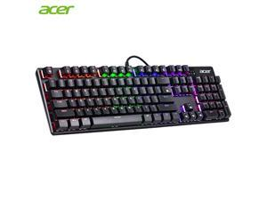 Acer 101 Key Mechanical Keyboard USB 9 LED Backlit Axises Wired Gaming Keyboard Optical Switches Anti-ghosting RGB/ Mix Backlit For Gamer PC Laptop