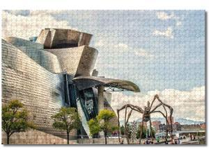 Spain Guggenheim Museum Bilbao Jigsaw Puzzles for Adults Kids 1000 Pieces Wooden Puzzle