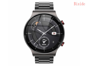 Beside Smart Watch Compatible Android IOS Phones, Bluetooth IP67 waterproof Smartwatch,Sports Watch,Synchronize with Mobile Phone Information,23 National Language Settings Watches for Men Women,Black