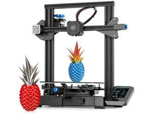 Aystkniet Official Creality Ender 3 V2 3D Printer, 2020 Newest FDM All Metal 3D Printers Kit with Upgraded Silent Motherboard, Carborundum Glass Bed, Mean Well Power Supply, Print Size 220x220x250mm