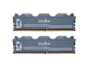 LEVEN SINBA 16GB KIT (8GBx2) DDR4 3600MHz PC4-28800 288-Pin U-DIMM CL18 XMP2.0 Overclocking Gaming RAM Desktop Memory Module- Gray (JROC4U3600172408G-8Mx2)