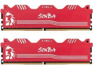 LEVEN SINBA 16GB KIT (8GBx2) DDR4 3600MHz PC4-28800 288-Pin U-DIMM CL18 XMP2.0 Overclocking Gaming RAM Desktop Memory Module- RED (JROC4U3600172408R-8Mx2)