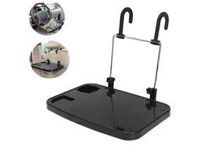 1Pc Hanging Laptop Portable Trays Auto Lunch Desk Steering Wheel Mate Foldable Vehicle Back Seat Table for Food Drink Cup Holder