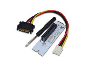 M.2 to PCI-E 4X Riser Card M2 Key M to PCIe X4 Adapter with LED Voltage indicator NGFF riser for NVMe for Bitcoin Miner Mining
