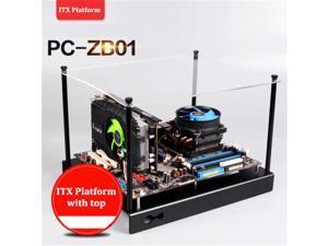 New Arrivals Plataforma ITX ITX Motherboard Suporte da placa de Alumínio DIY bandeja de exibição com a parte superior para PC Computador