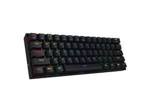 Redragon K530 Draconic 60% Compact RGB Wireless Mechanical Keyboard, 61 Keys TKL Designed 5.0 Bluetooth Gaming Keyboard with Brown Switches and 16.8 Million RGB Lighting for PC, Laptop, Cell Phone