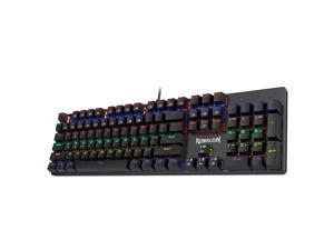 Redragon K608 Valheim Rainbow Gaming Keyboard, 104 Keys NKRO Mechanical Keyboard w/Tactile and Clicky Blue Switch /Soft Tactile and Low Noise Brown Switch/Linear and Quiet Red Switch
