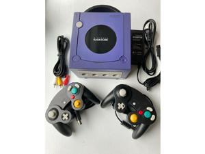 Nintendo GameCube Indigo Blue Gaming Console + 2 Controllers Bundle complete with all cords