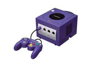 Nintendo GameCube Video Game Console Indigo Purple Matching Controller Cables