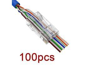 100 PCS 8P8C EZ RJ45 Connector Cat6 RJ 45 UTP Ethernet Cable Plug RG45 Cat5e 8P8C Cat 6 Network Unshielded Cat5 Terminal