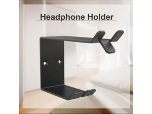 Metal Earphone Storage Bracket Universal Earbud Bracket Attached Double-sided Adhesive Wall Fixed Headset Stand Headphone Holder