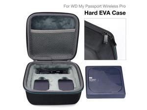EVA Wireless Hard Drive Storage Bag Portable Pouch Case For WD  Wireless Pro