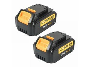 Abeden 2 Pack 20V MAX 6.0Ah Lithium-Ion XR Battery Compatible with Dewalt 20V Cordless Power Tools DCB205-2 DCB200 DCB180 DCD985B DCD771C2 DCS355D
