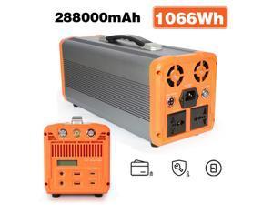 Abeden 1000W Portable Power Station Generator Voltagoal 1066Wh CPAP Backup Battery Pack UPS Power Supply 110V Pure Sine Wave AC Outlet, USB, 12V DC, LED Flashlight for Camping, Home, Emergency