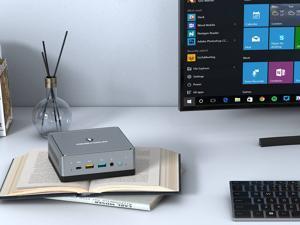 Minisforum UM700 Mini PC, AMD Ryzen™ 7 3750H Processor, 4 Cores/8 Threads, Up to 4.0 GHz, 16GB RAM, 256GB SATA SSD, Support 3 monitors