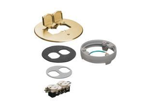Arlington FLB6230MBLR Brass Cover Kit With Leveling Ring 6-Inch