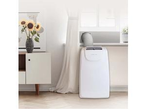 12,000 BTU (8,000 BTU DOE) Portable Air Conditioner with Dehumidifier and Mirage Display in White