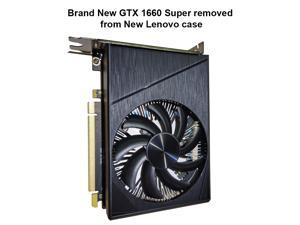 GeForce GTX 1660 Super Overclocked 6GB Single-fan Edition HDMI DP DVI Gaming Graphics Card GTX1660Ti-GAMING Graphics Card Video Card Removed From a New Lenovo Computer Case