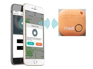 2021 ITRACE Smart Tracker Easy Key Finder Track Locations of Kids, Car, Keys, Pet, Wallet, Luggage, and More -Bluetooth with Camera Remote - Orange
