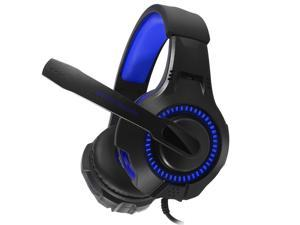 G50 Gaming Headsets Big Headphones with Light Mic Stereo Earphones Deep Bass Professional Game Surround Sound RGB Light for PC Computer Gamer Laptop PS4 New X-BOX
