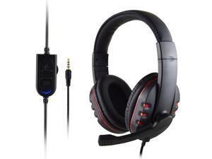 Gaming Headset, HI-FI Audio Quality Wired Crystal Clarity Sound Professional Headphones with Microphone for Mac Laptops Tablet Phone, 3.5 MM