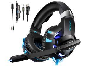 Gaming Headset Xbox One Headset PS4 Headset with Crystal Clear Mic & LED Light, Compatible with PC, PS4, Xbox One Controller